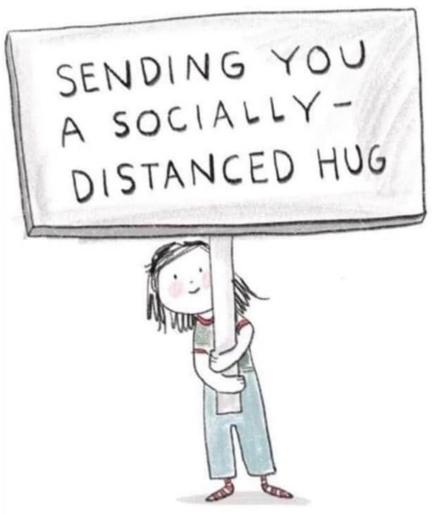 socially distant hug rana